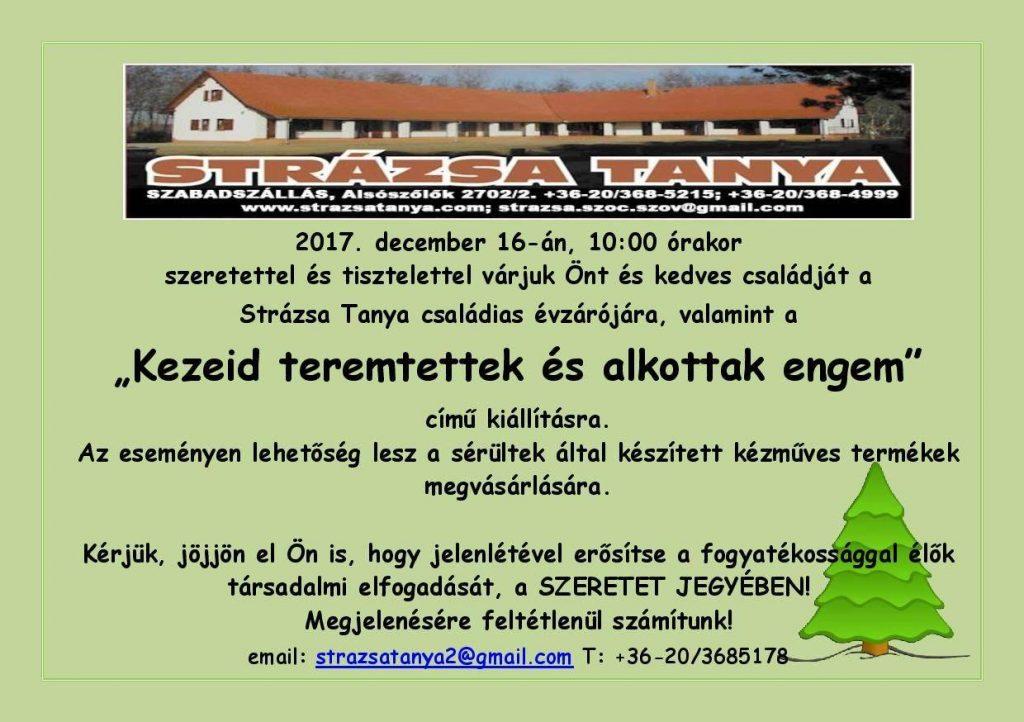 Karácsonyi évzáró és kiállítás a Strázsa Tanyán